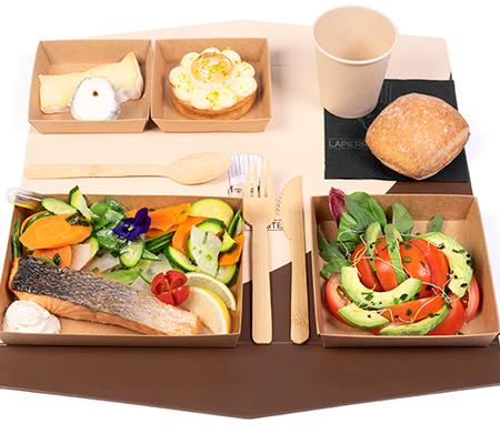 e-plateau repas 5 Saumon frais rôti certifié GlobalGap
